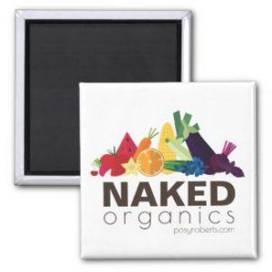 Naked Organics Square Magnet
